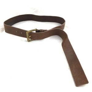 Waist belt genuine leather brown Corey Lynn Calter